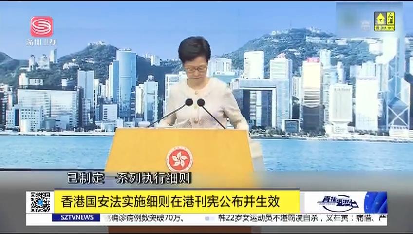 香港国安法实施细则在港刊宪公布并生效