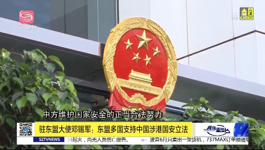 驻东盟大使邓锡军:东盟多国支持中国涉港国安立法