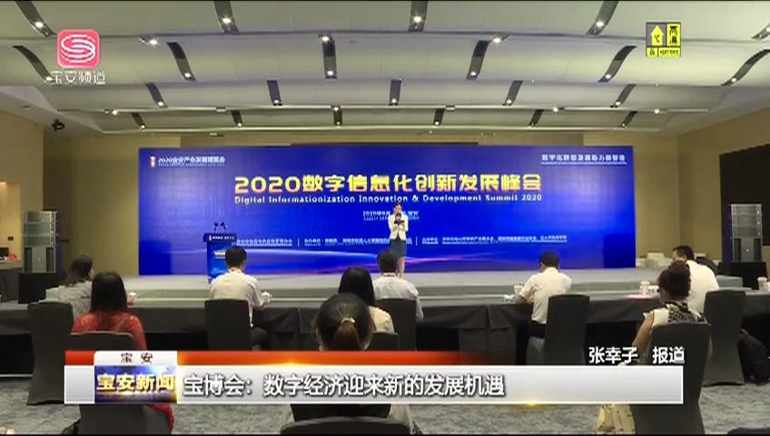 宝博会:数字经济迎来新的发展机遇 2020-08-08