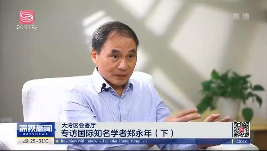 大湾区会客厅 专访国际知名学者郑永年(下)