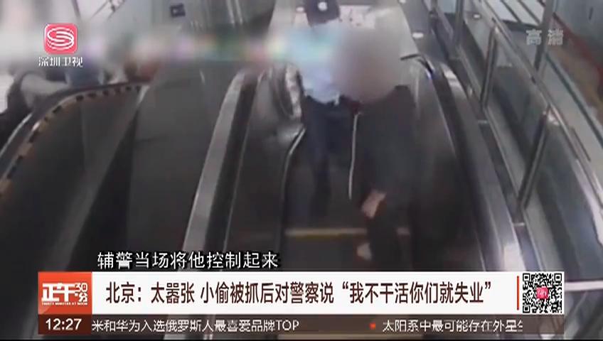 """北京:太囂張 小偷被抓后對警察說""""我不干活你們就失業"""""""