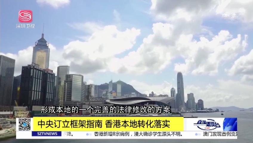 中央訂立框架指南 香港本地轉化落實